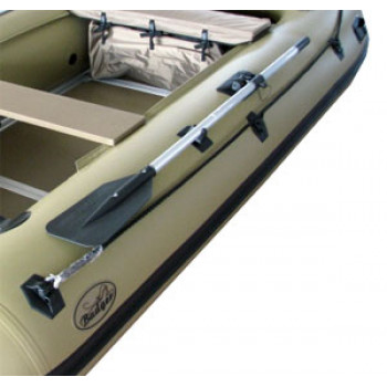 Весло для лодки (разборное), черное-светлая труба