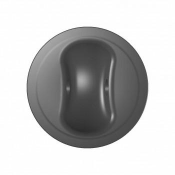 Рым леерный большой  серый (Г-021) 95х30 мм d=13