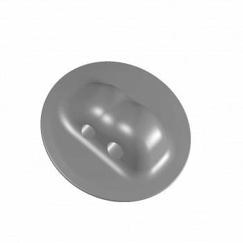Рым леерный двойной серый (два отверстия)  ( Г )  100 мм d=11  12,5