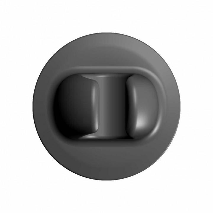 Защелка весла большая черная (Г74-ГП066)