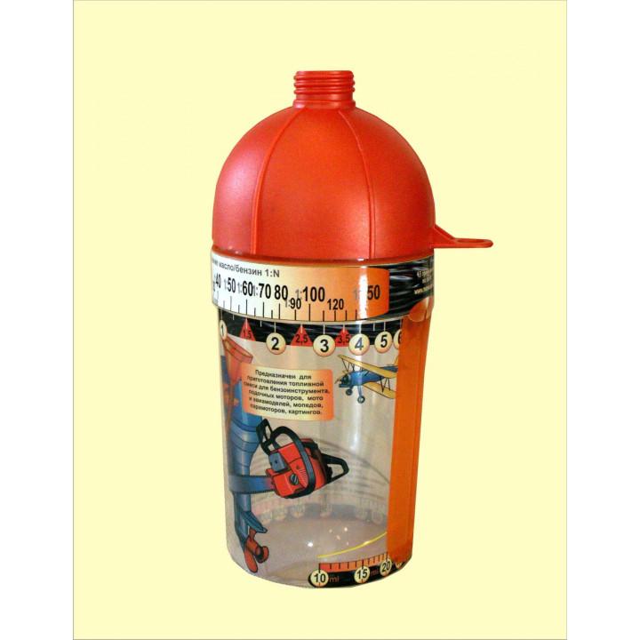 Дозатор для двухтактного лодочного мотора Mixmetrix масло/бензин (Плексиглас)