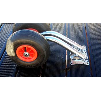 Транцевые колеса (шасси) для лодок быстросъёмные (0311) стандартные