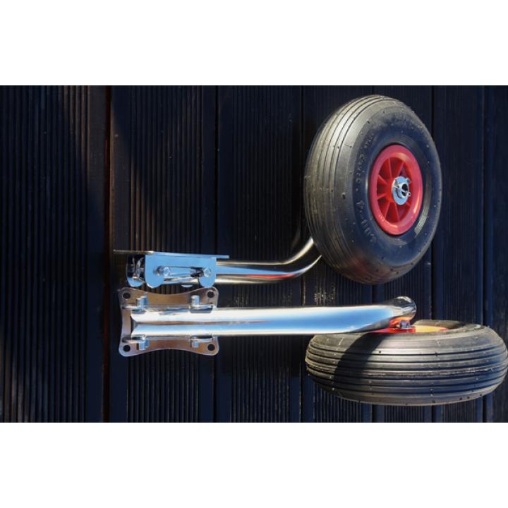 Транцевые колеса (шасси) для лодок быстросъёмные укороченные (0321)