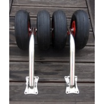 Транцевые колеса (шасси) усиленные для лодок с дном низкого давления (0212)