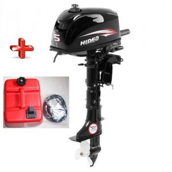 Лодочный мотор HIDEA (Хайди) HD 5FHS + бак 12 л.
