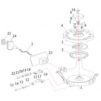 Корпус приводного рычага для лодочного мотора (9.8F-01.01.02)