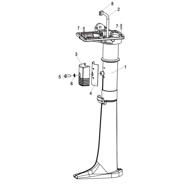 Трубка охлаждения для лодочного мотора (2.5F-05.01.00.01)