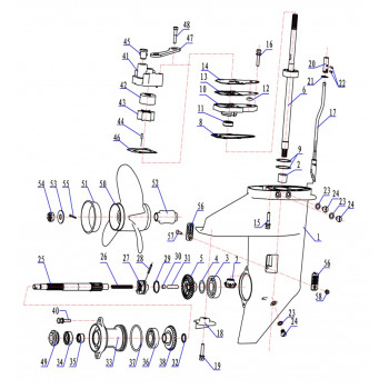 Прокладка седла помпы для лодочного мотора (9.8F-06.20)