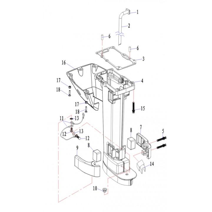 Трубка охлаждения для лодочного мотора (9.8F-05.10-S)