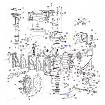 Блок цилиндров (комплект две части) 15F-01.06.01
