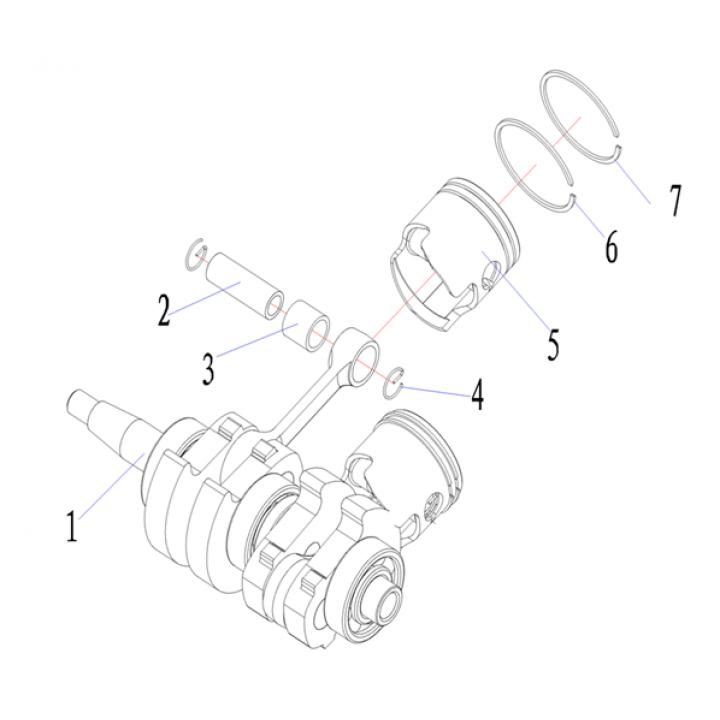 Кольцо поршневое (1) для лодочного мотора (9.8F-01.06.22)