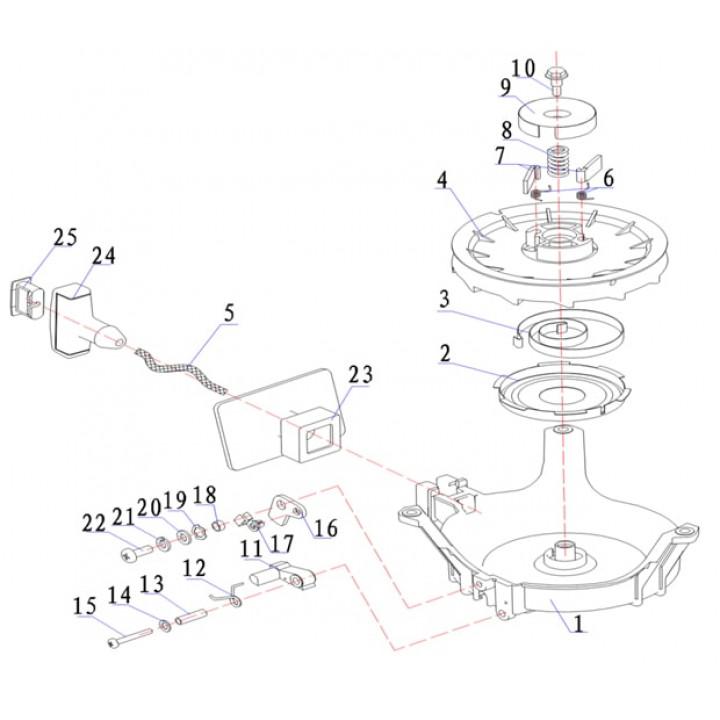 Пружина приводного рычага для лодочного мотора (9.8F-01.01.06)
