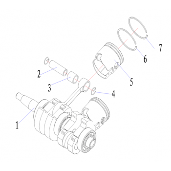 Игольчатый подшипник для лодочного мотора (9.8F-01.06.26)