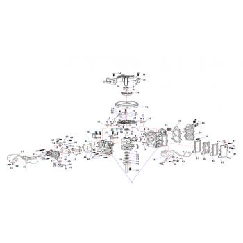 Гайка маховика для лодочного мотора (9.8F-01.03.04)