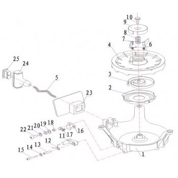 Диск стартера для лодочного мотора (9.8F-01.01.07)