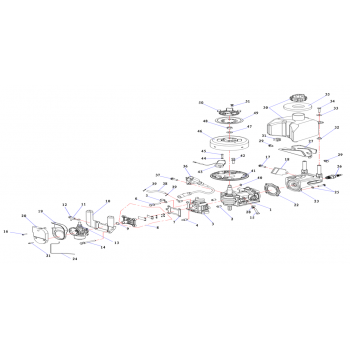 Опорная пластина топливного бака для лодочного мотора (2.5F-01.04.00.05)