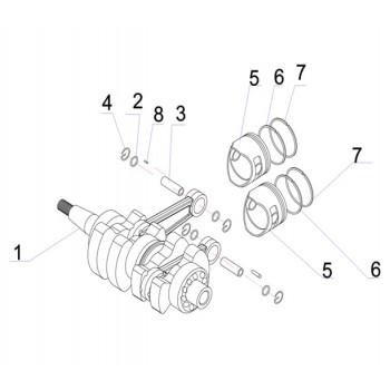Кольцо поршневое (2) 15F-01.06.33.13