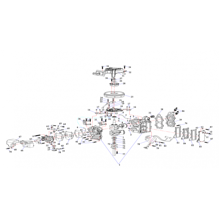 Прокладка карбюратора для лодочного мотора (9.8F-01.07.02)