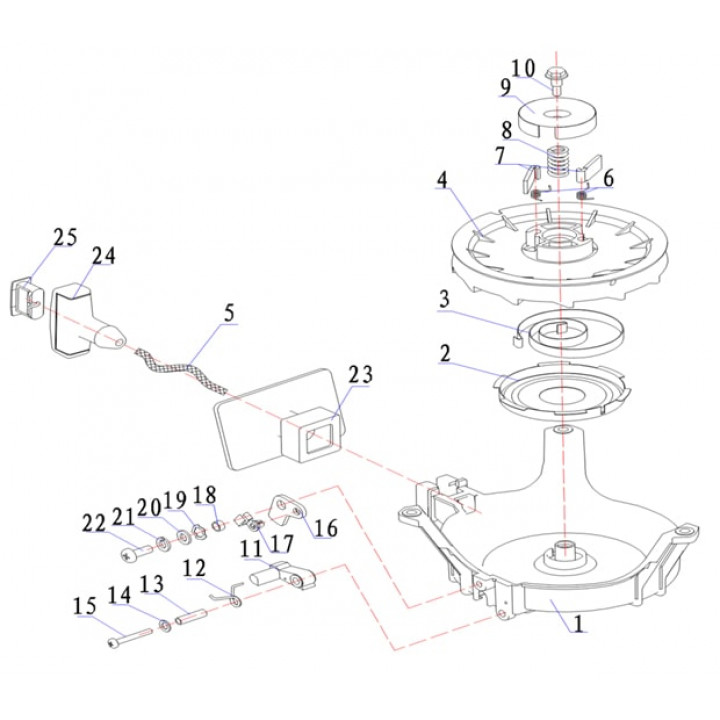 Уплотнитель для лодочного мотора (9.8F-01.01.11.01-II)
