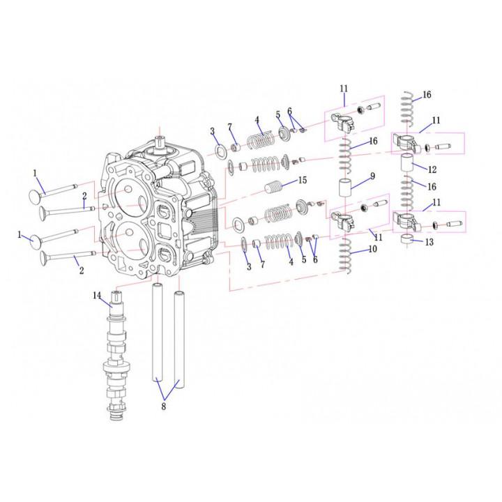 Клапан впускной F15-01.03.00.01