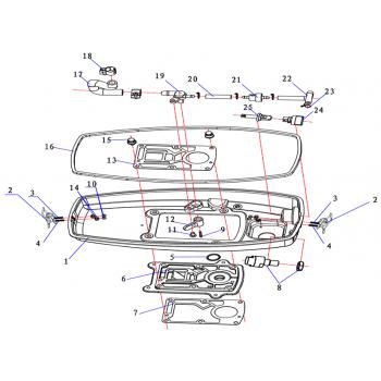 Топливный шланг для лодочного мотора (2.5F-01.04.00.08)