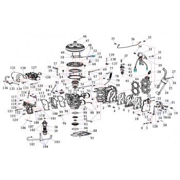 Выпускной коллектор(внешняя крышка) 20F-01.06.00.11