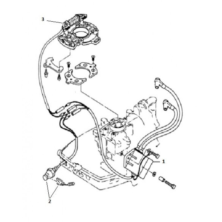 Катушка зажигания для лодочного мотора (9.8F-01.03.06.00)