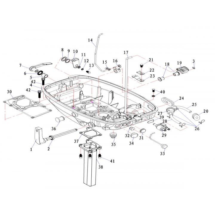 Резиновое уплотнительное кольцо для лодочного мотора (9.8F-01.05.09)