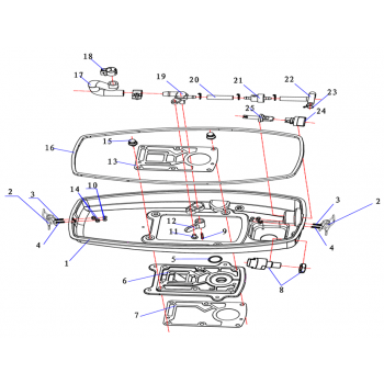 Основание топливного крана для лодочного мотора (2.5F-01.04.00.11)