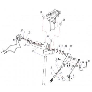 Трос газа для лодочного мотора (9.8F-04.13)