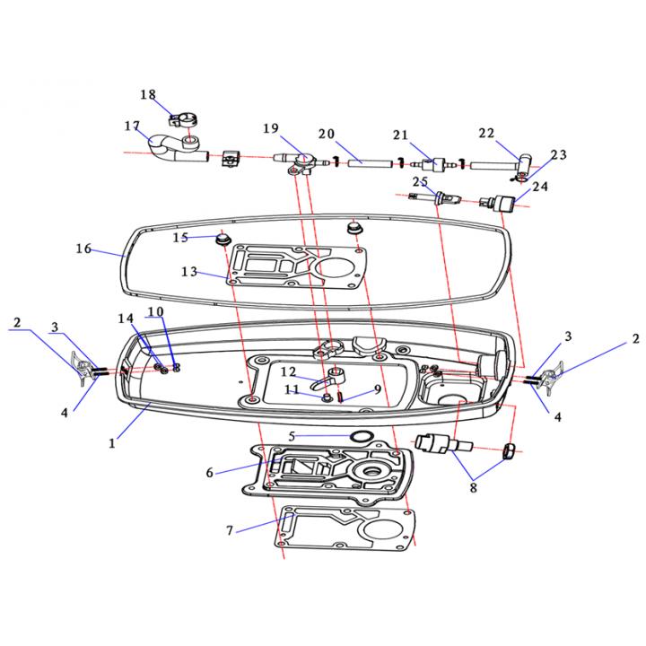 База двигателя для лодочного мотора (2.5F-02.00.00.01)