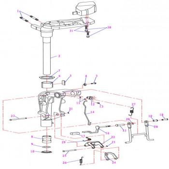 Шпилька подушки двигателя F9.9-04.01.00.04