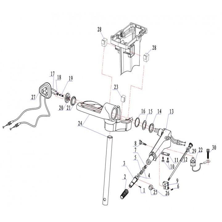 Ручка переноса для лодочного мотора (9.8F-04.15.01)