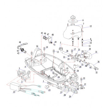 Кронштейн топливного бака 5F-01.04.01