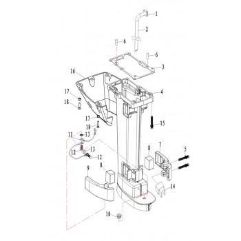 Кожух дейдвуда для лодочного мотора (9.8F-01.08.00.00)