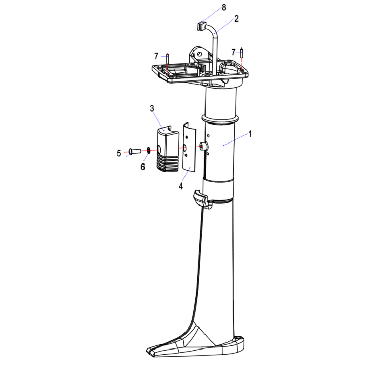 Дейдвуд для лодочного мотора (2.5F-05.00.00.01)