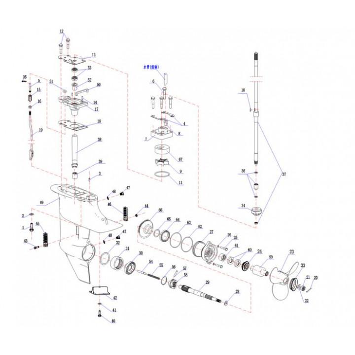 Корпус помпы + гильза помпы(YMM Тайвань) 15F-06.02.01