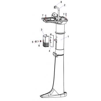 Ограничитель поворота дейдвуда для лодочного мотора (2.5F-05.00.00.02)