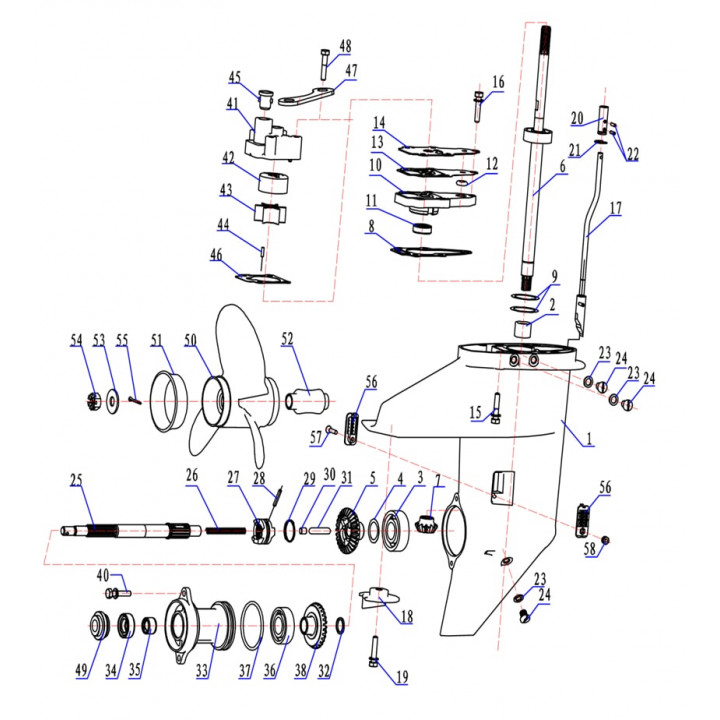 Прокладка седла помпы для лодочного мотора (9.8F-06.14)
