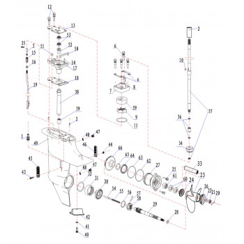 Тяга переключения передач 15F-01.05.13