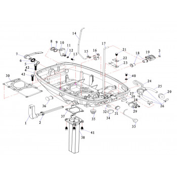 Заглушка для лодочного мотора (9.8F-02.02)