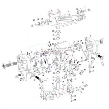 Гайка рулевой тяги HDYK00.10.05