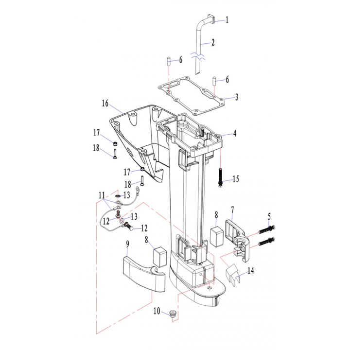 Подушка для лодочного мотора (9.8F-05.06)