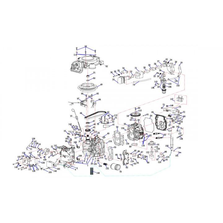 Блок цилиндров F15-01.01.00.01