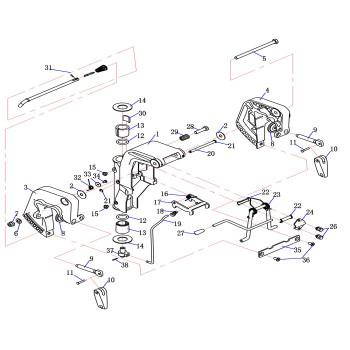 Антифрикционная площадка для лодочного мотора (9.8F-03.05.04)
