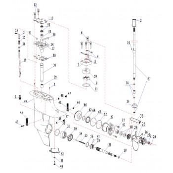 Гайка вертикального вала 15F-06.04.88