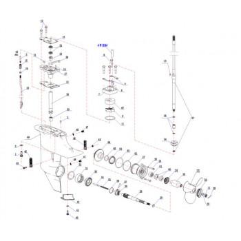 Игольчатый подшипник приводного вала(YMM Тайвань) 15F-06.01.14