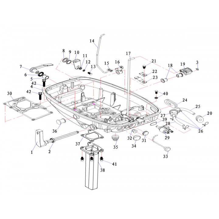 Рукав для лодочного мотора (9.8F-02.05)