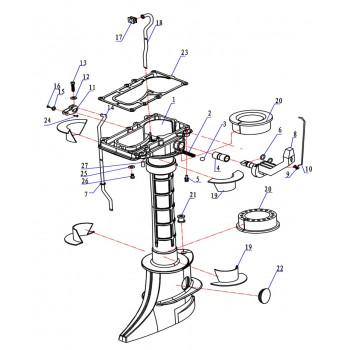 Кронштейн переключения передач 5F-05.04