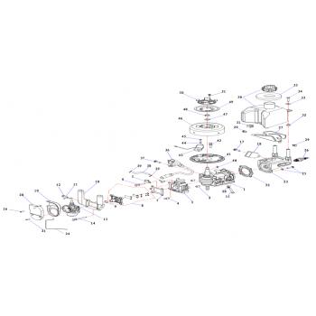 Блок цилиндра, лодочный мотор 2.5 л.с. (2.5F-01.01.01.01) CN